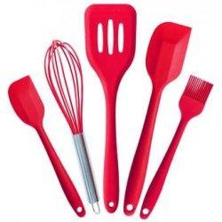 5pcs/lot Horneando herramientas Equipo Batería de cocina Silicona Utensilio Cocina Conjunto