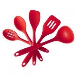 5pcs/lot Silicona Batería de cocina Antiadherente Cocina utensilios de cocina Conjunto Equipo