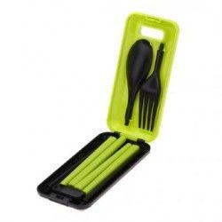 Viaje al aire libre de picnic vajilla portable respetuoso del medio ambiente ABS vajilla palillos cuchara Tenedor Caja