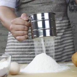 CX Tamiz de la harina Flour Sifter Finether Plateado