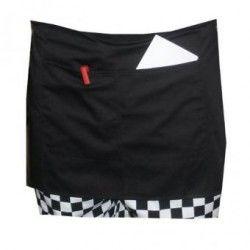Cintura corta Unisex duradera delantal con bolsillo para Chef /Camarero /Camarera (negro)