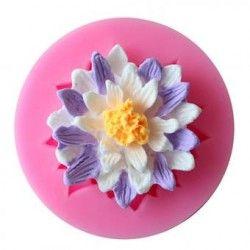 1 PC crisantemo flor margarita molde de silicona molde de Tarta Fondant Cake Decorating Tools chocolate jabón molde herramientas