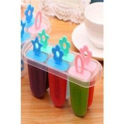 6pcs DIY Ice Cream molde paletas molde (color al azar).
