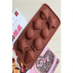 Moldes de silicona para hornear moldes para chocolate Fish Shell (colores aleatorios)