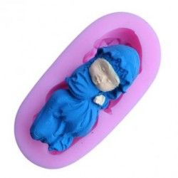 Hornear moldes dormir bebe decoracion de pastel fondant molde molde.