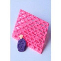 Hornear de silicona con forma de elipse grabado decoracion de pastel fondant molde molde muere.