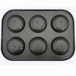 Molde de silicona para hornear moldes para hornear galletas de chocolate del molde de la flor.