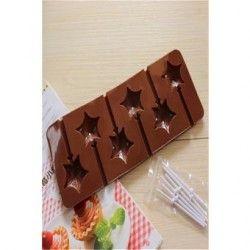 Moldes de silicona para hornear moldes para chocolate Piruleta con forma de estrella