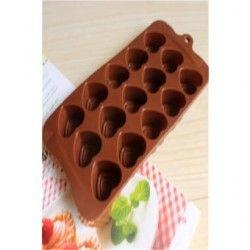 Moldes de silicona para hornear moldes para chocolate en forma de corazon.