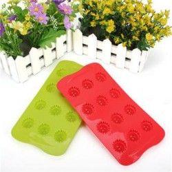 Molde de hornear galletas de chocolate para hornear moldes de flores de hielo molde molde (rojo / amarillo)