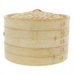 Vaporera De Bambu 30cms Cocina Sano Sin Grasa China Japonesa