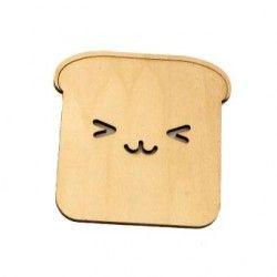 Happy Dog Shape Toast Bread Heat Insulation Pads Mat (Brown)