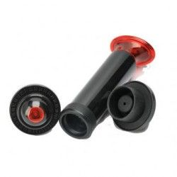 Vacío silicona tapón de la botella de vino con el anillo de Fecha, Negro, 2 tapones de botellas