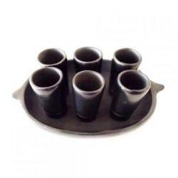 Vasos Tequileros Barro Negro (Shots)