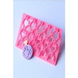 Molde de silicona para hornear de impresión de encaje decoracion de pastel de fondant molde