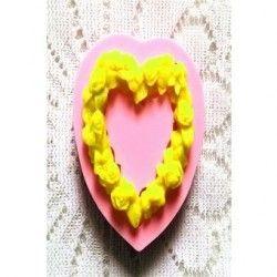 Moldes de silicona para hornear moldes de corazon dulce pastel de chocolate fondant.