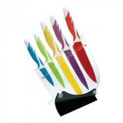Juego De 5 Cuchillos Con Antiadherente Varios Colores TG00015