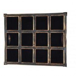Caja para Vinos de Madera de Pino, Vintage Home Designe, Nevada, Esquinas con Angulo de Metal Acabado Vintage- Azul