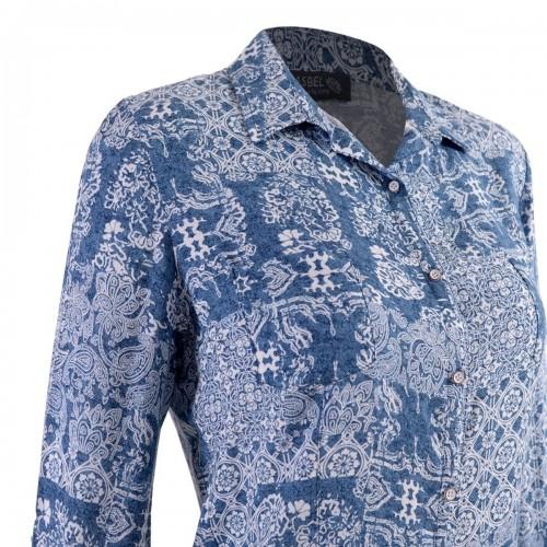 Blusa Corte Clásico con Estampado Yhasbel