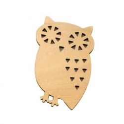 Generico Wooden Owl Bread Toast Drink Cup Insulation Mat Pad Coaster Placemat