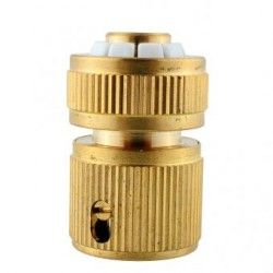 Generico Durable Brass Threaded Garden Hose Water Pipe Connector Tube Fitting Nozzle