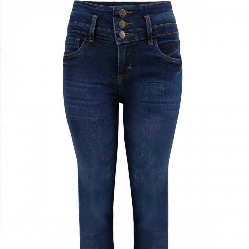 Jeans con Pretina Ancha Natural