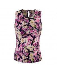 Blusa Estampado Floral Michel Rene