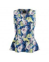 Blusa con Estampado de Flores Multicolor Michel Paulini