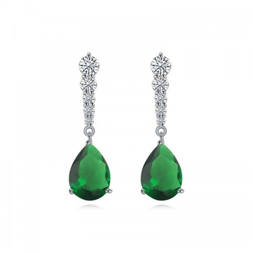 Aretes Sahara on Green, Cristal Sun with Swarovski