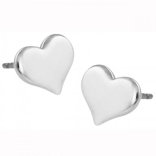 Broqueles de Corazón en Acabado Rodio Mod. 7506237932167
