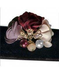 Collar Choker Terciopelo y Flores