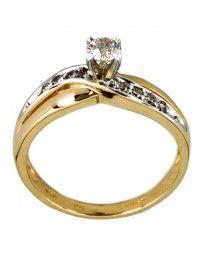 Anillo de Oro Bercov con Diamante .11-.20 Puntos 5461
