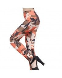 Leggings militares anaranjados camuflaje