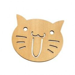 Generico Wooden CAT Bread Toast Drink Cup Insulation Mat Pad Coaster Placemat