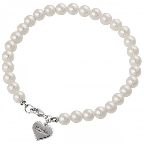 Pulsera de Perlas con Corazón en Rodio Mod. 7506237932228