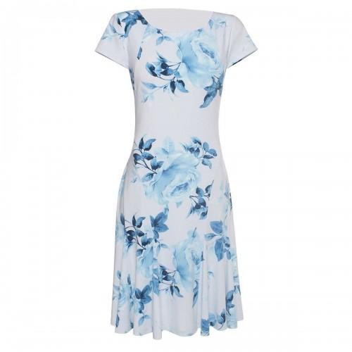 Vestido con Rosas Azules Gabriela Fiori