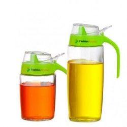 Dispensador de Aceite y Vinagre Robo Alice-Transparente con Verde
