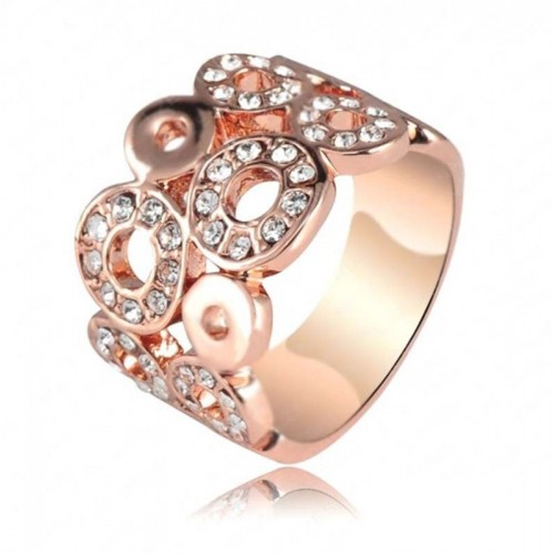 Anillo Loving Circles, Cristal Sun with Swarovski