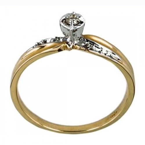 Anillo de Oro Bercov con Diamante .02-.04 Puntos 5117