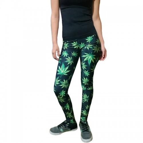 Leggings hojas de marihuana