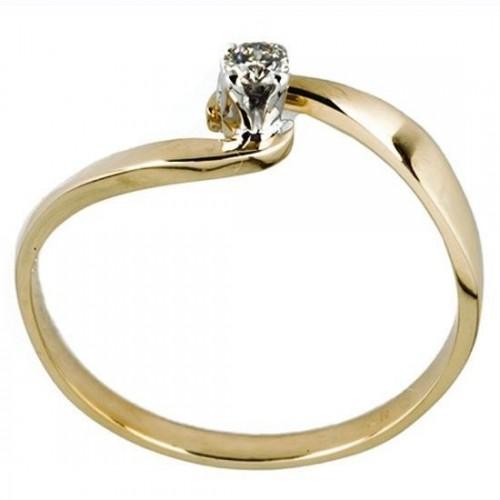 Anillo de Oro Bercov con Diamante .07 Puntos 7240