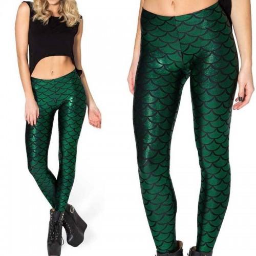Leggings sirena verde