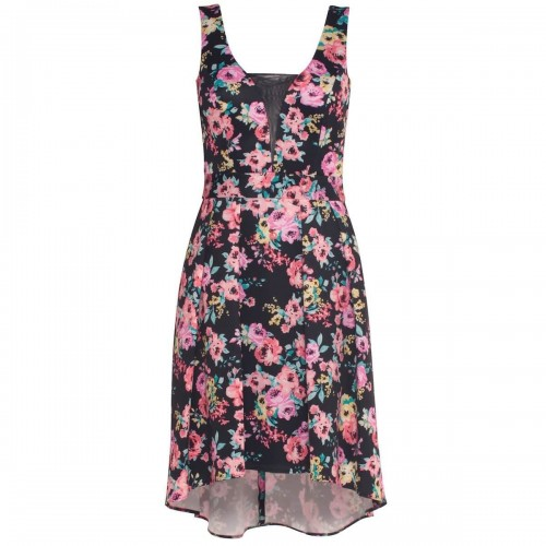 Vestido Corto Estampado Floral By Hollywood Nites