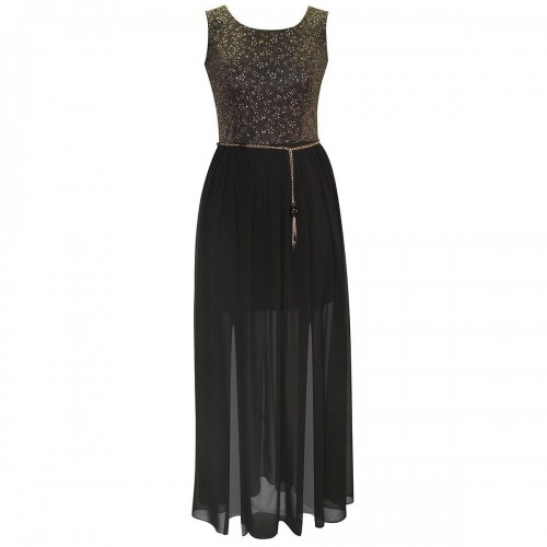 Vestido Largo Texturas Combinadas By Hollywood Nites