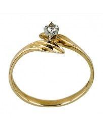 Anillo de Oro Bercov con Diamante .06 Puntos 5123