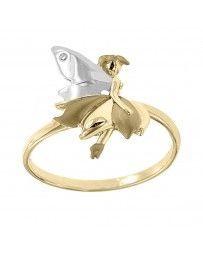 Anillo Fianelli con Oro Amarillo 14K con Diamante Celin Bvian-B379-D