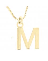 Dije con Cadena Fianelli Letra M en Oro Amarillo 14K