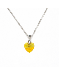 COLLAR CORAZON AMARILLO