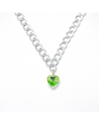 COLLAR CORAZON PERIDOT