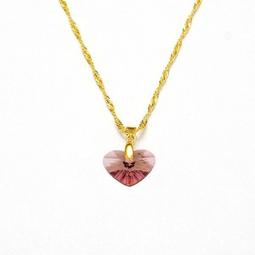 COLLAR CORAZON LAVENDER